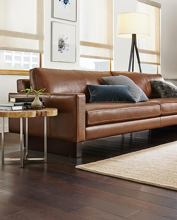 Leather Sofas Hess sofa Room and Board Furniture lighting carpets Pinterest Room