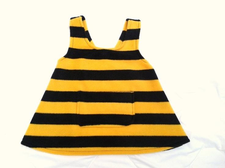 Biene Maja      92/98      süßes Bienchen-Kostüm für Fasching ♥    mit großer Tasche vorne ♥    genäht aus kuschelweichen Fleecestoff    100%Polyes...