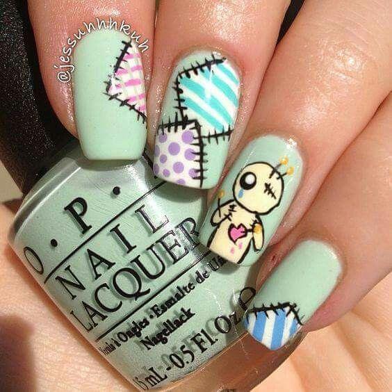 Mejores 35 imágenes de HALLOWEEN en Pinterest | Diseño de uñas, Uñas ...