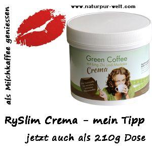Grüner Kaffee Crema jetzt in der günstigen 210 g Dose bei www.corsicareiki.com/ryslim/preiswert_bestellen.htm