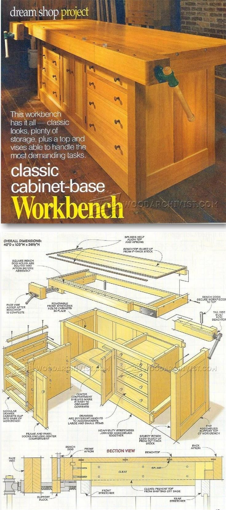 25 Best Ideas About Workbenches On Pinterest Workshop