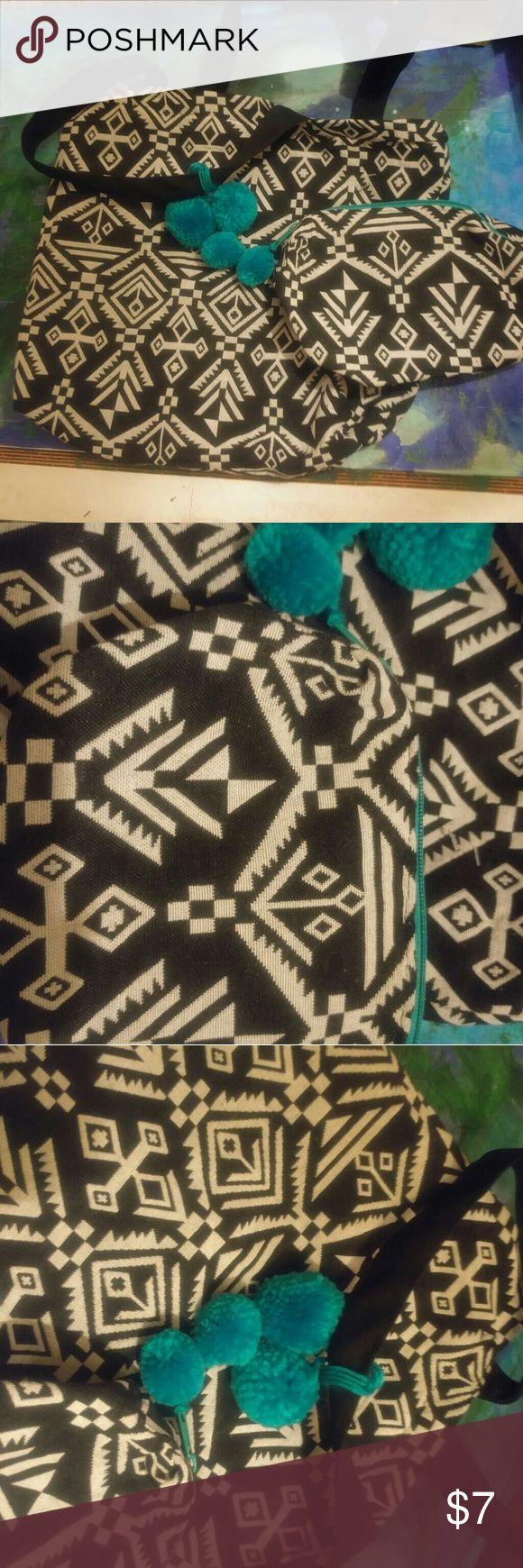 Aztec bags Aztec tote bag and matching makeup bag Bags