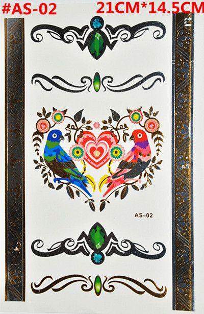 flower and bird jewelry sticker tattoo metallic tattos golden flash tattoos large temporary tattoo prices tattoo sticker