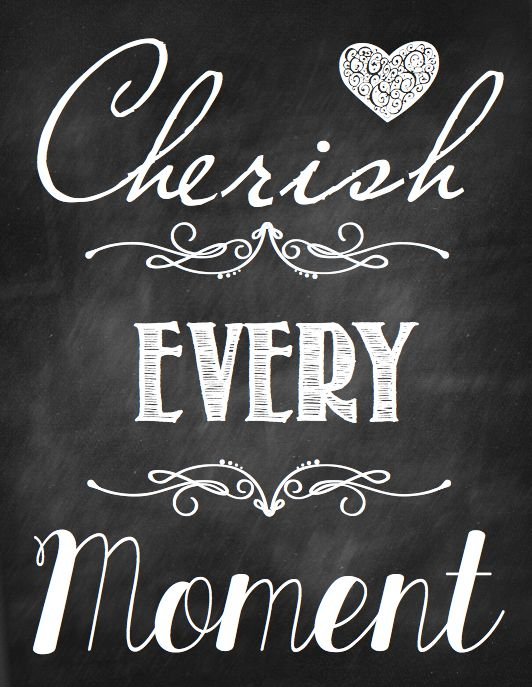 Let's Cherish Every Moment in 2014! graphic from One Good Thing By Jillee