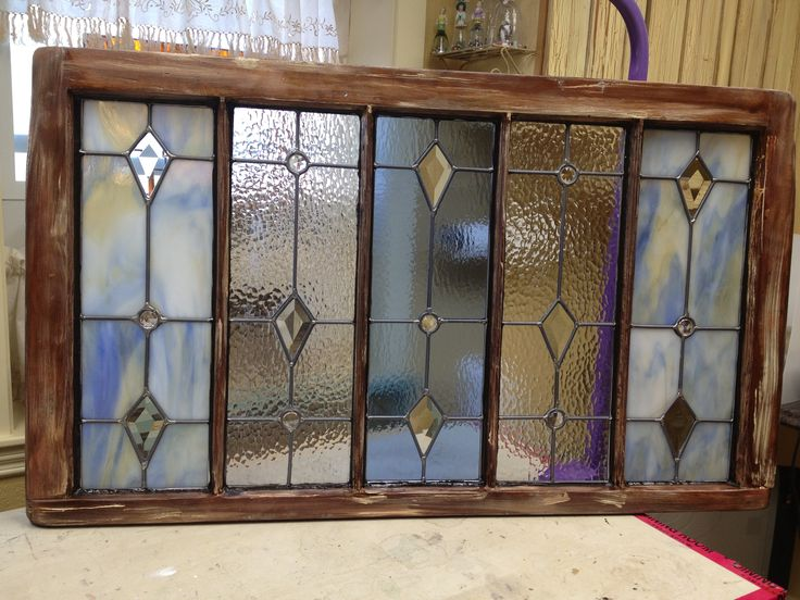 Stained Glass In Old Window Frame Panels Pinterest