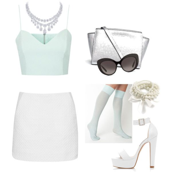 A fashion look from September 2015 featuring Topshop tops, Topshop mini skirts and Forever New sandals. Browse and shop related looks.