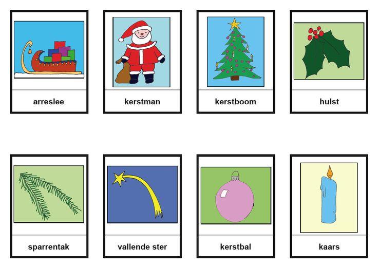 * Kerstmis-woordkaarten 3-3