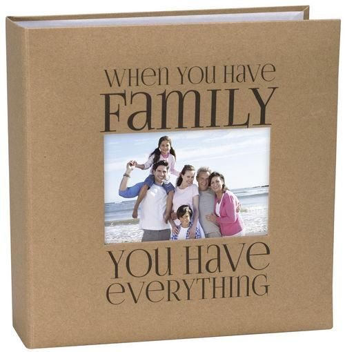4x6 Photo Album Family Kraft, Holds 160 Pictures