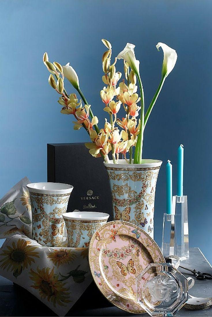 Πορσελάνινη σειρά Le Jardin de Versace | Σταχτοδοχείο Lumiere | Κηροπήγια Blockglass | Όλα Rosenthal www.parousiasi.gr
