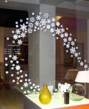 snowflake christmas window decorations - Christmas Window Decorations