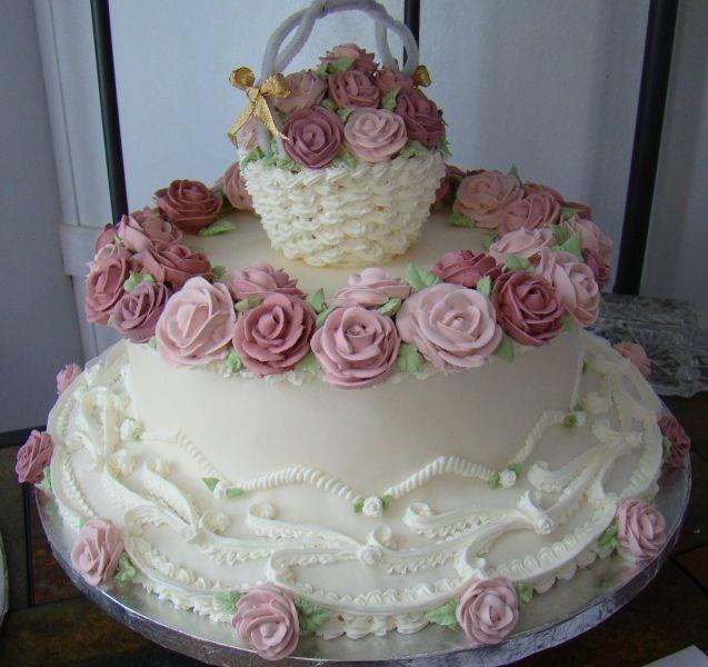 lambeth cakes | Lambeth Basket of Roses Cake - Cake Decorating Community - Cakes We ...