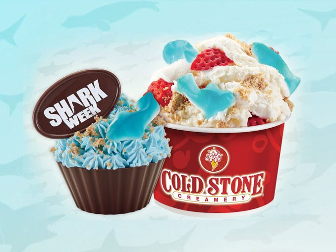 Cold Stone Creamery Offers New Shark Week Treats Through August 1 2017 #junkfood #fastfood #food #health #foodporn #obesity #burger #nutrition #diet #cake #Movies