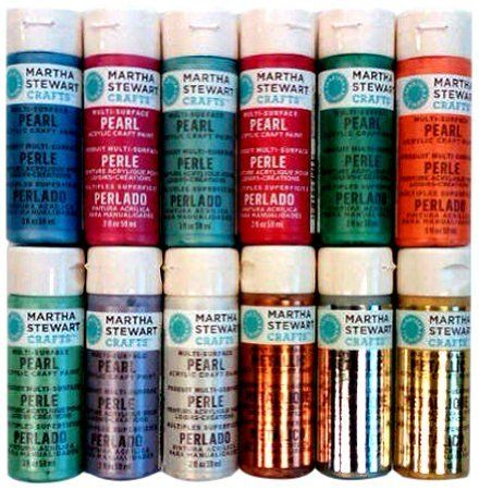Martha stewart promo769 12 metallic pearl for Pearls paint supply