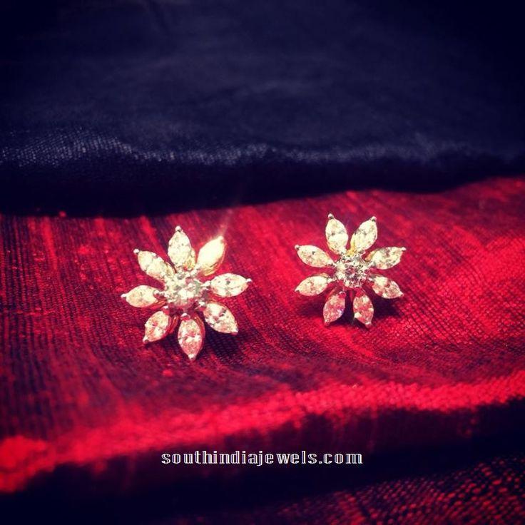 Diamond ear studs designs