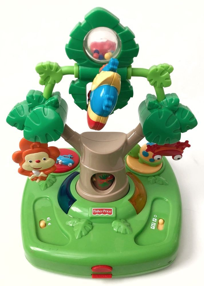 rainforest high chair humanscale liberty review fisher price replacement tray toy green musical jungle ebay