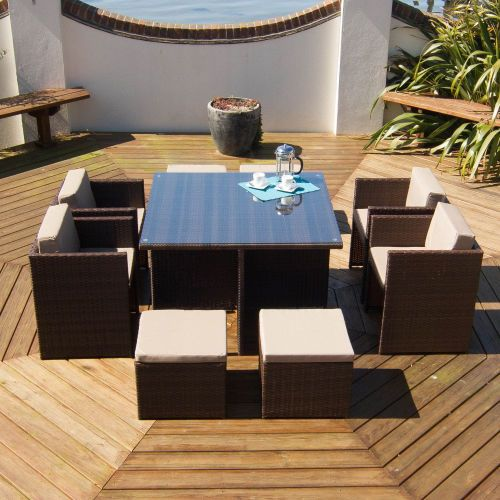 rattan garden furniture set person outdoor patio dining wicker table 4 6 cube