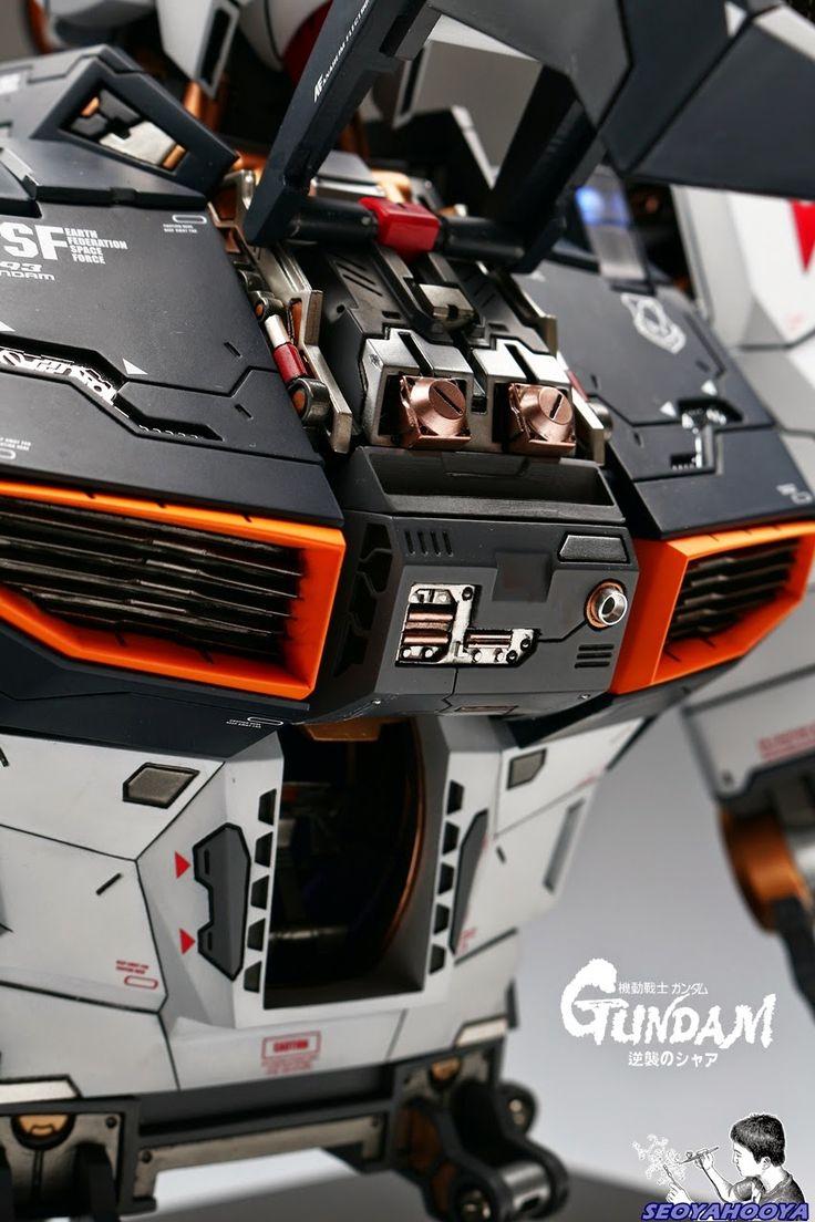 Neo Grade 1/35 RX-93 Nu Gundam Bust - Painted Build Modeled by SeoyaHooya