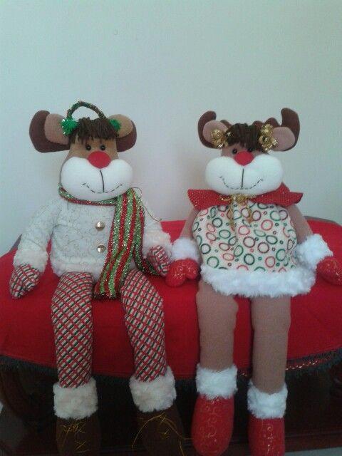 reno y rena navidenos
