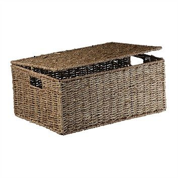 Briscoes - Storage Box Seagrass Savona Natural S3