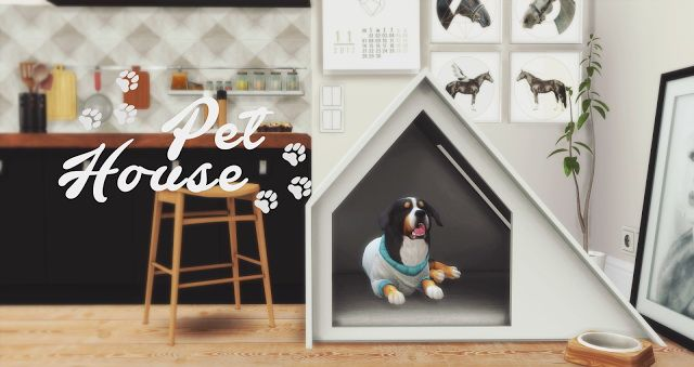 Sims 4 Updates: Pyszny Design - Pets, Objects / Furniture : Pet House, Custom Content Download!