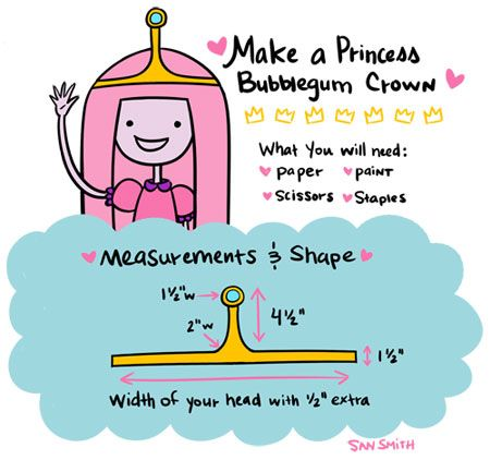 I've really been digging the cartoon Adventure Time! I was poking around online the other day and noticed there is a pattern to make Finn's hat online, which inspired me to make a goofy sort of tutorial on Princess Bubblegum's...