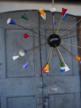 lustre spoutnik design Italien tres grand modele