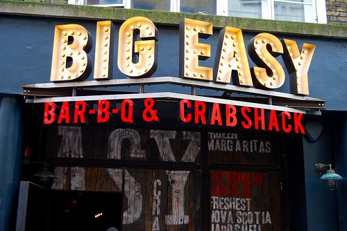 Places to eat in London: Big Easy, Covent Garden