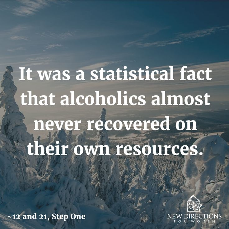 It was a statistical fact that alcoholics almost never recovered on their own resources. #12and12 #StepOne