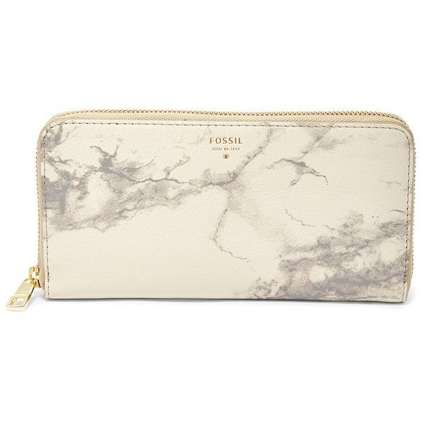 Fossil Sydney Zip Clutch Sl6869020 Color: Grey Wallet (435 NOK) ❤ liked on Polyvore featuring bags, handbags, clutches, purses, gray purse, leather handbags, grey purse, fossil handbags and grey leather handbags