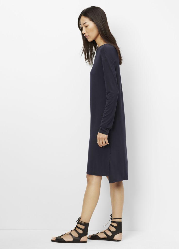 Blue Long Sleeve T Shirt Dress