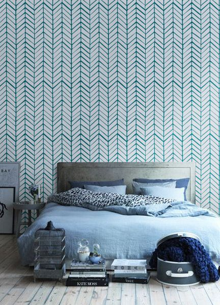 les 25 meilleures id es de la cat gorie papier peint motif chevrons sur pinterest chevrons. Black Bedroom Furniture Sets. Home Design Ideas