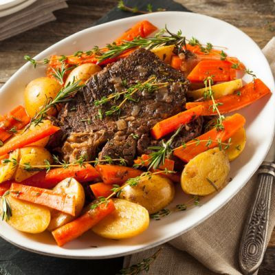 Easy Tender Rosemary Ribeye Steak with Carrots and Potatoes