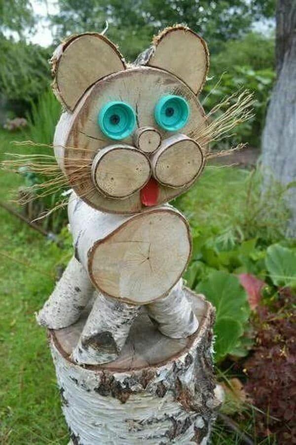 Поделка из дерева для сада