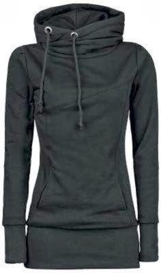 Black color hood for women   Fashion World