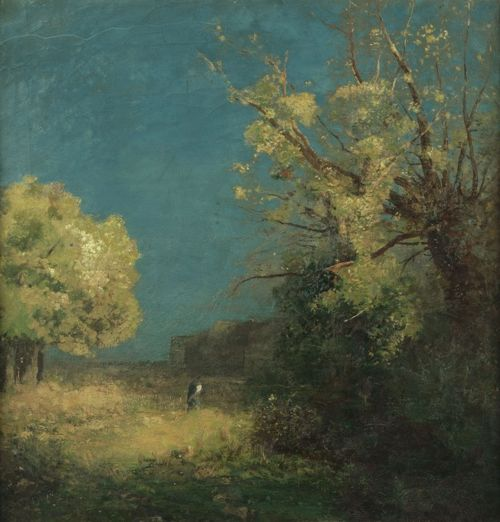 Odilon Redon (French, 1840-1916),Le chemin à Peyrelebade (The Road to Peyrelebade), undated.Oil on paper on cardboard,46.8 x 45.4cm. Musée d'Orsay, Paris.