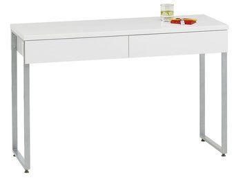 Biurko STEGE białe wysoki połysk | JYSK