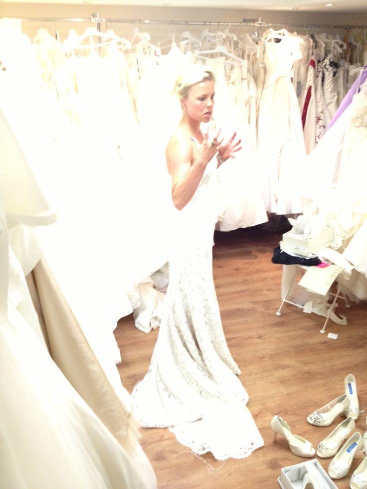 Trying my dress! #weddingdress #lace