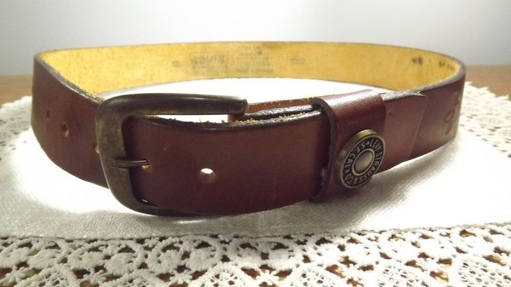 Vintage Latigo Leather Belt Size 32,  Western Rodeo-wear by Levis Strauss & Co. S.F.Cal, Cowboy/Gal Ready by OutrageousVintagious on Etsy