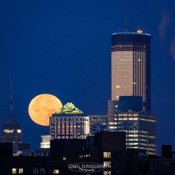 Super moon over Minneapolis