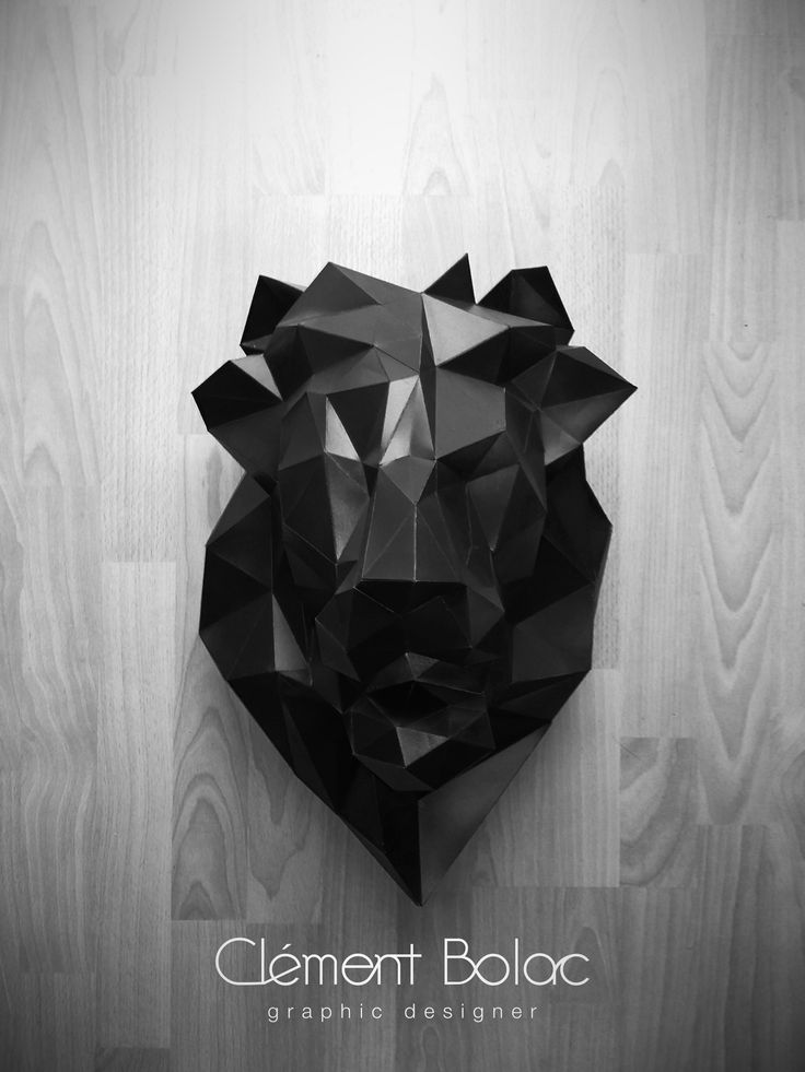 Self initiated project. Papercraft Lion head