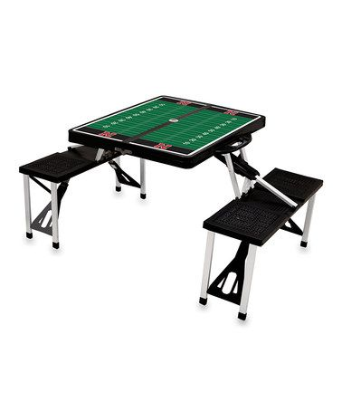 Take a look at this Black Nebraska Picnic Table by Picnic Time on #zulily today!