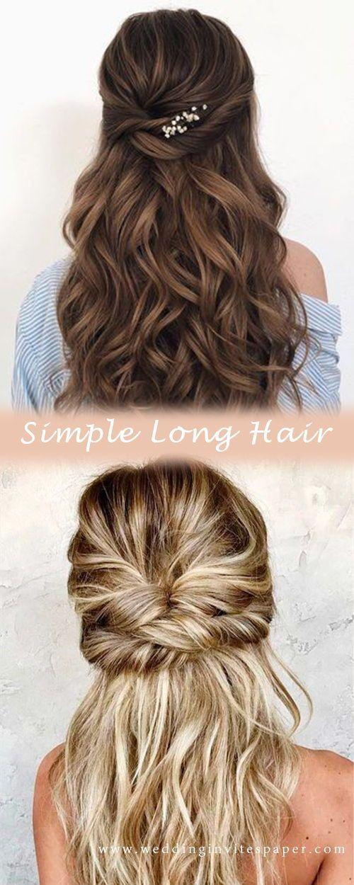 46 Unforgettable Wedding Hairstyles for Long Hair 2019—elegant half up half down wedding hairstyle, classic wedding hairstyles