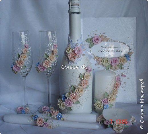 Декор предметов Свадьба Лепка Что-то от Шебби  Пластика фото 10