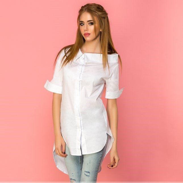"""Купить Рубашка асимметричной длины ST13006 по лучшей цене с доставкой по всей России вы можете в интернет-магазине """"Красавица"""". Фото, описание и цена."""