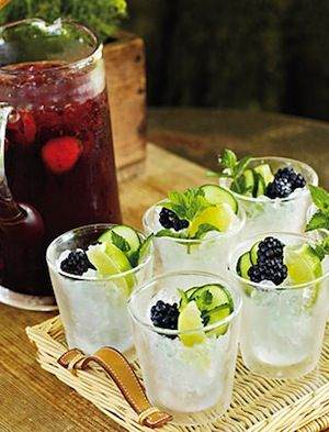 yummy blackberry and mint cocktails