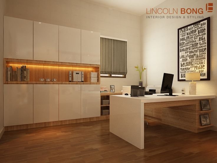 Contemporary Minimalist Bedroom (work area) we designed for our client in Rajawali, Jakarta