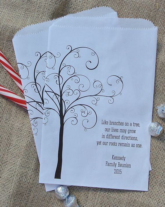 Favor Bags For Family Reunion Favors Utensil Personalized Candy
