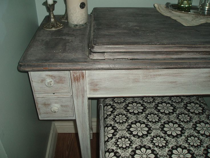 Shabby chic sewing table vanity