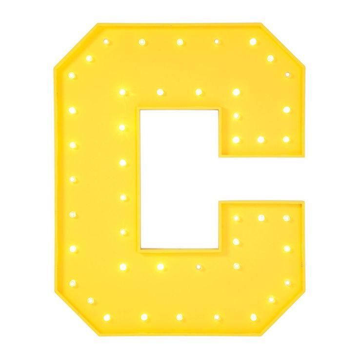 Applique C jaune LED Kare Design