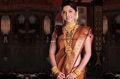 Gold bridal jewellery from Manubhai jewellers ~ South India Jewels